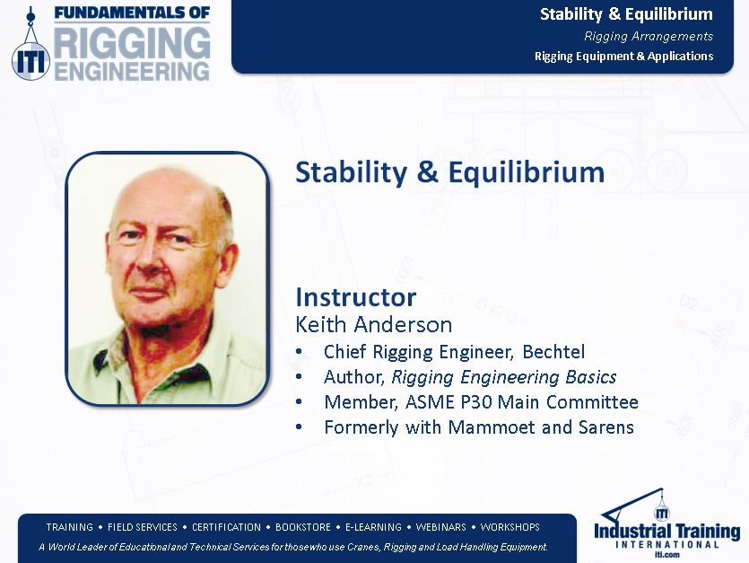 Stability & Equilibrium in Rigging Engineering & Lifting Planning