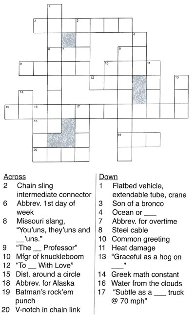 The pro rigger rigger training rigging crossword ccuart Image collections