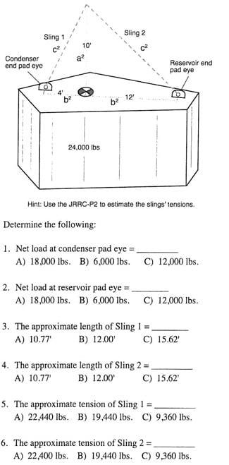 23 2 Off Set CG, Sling Length Estimate 2