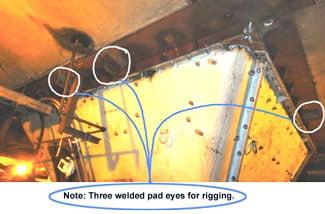 welded padeyes4rigging