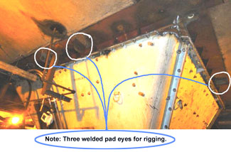 welded padeyes4rigging