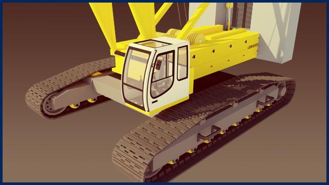 Large Crawler Crane VR Simulator