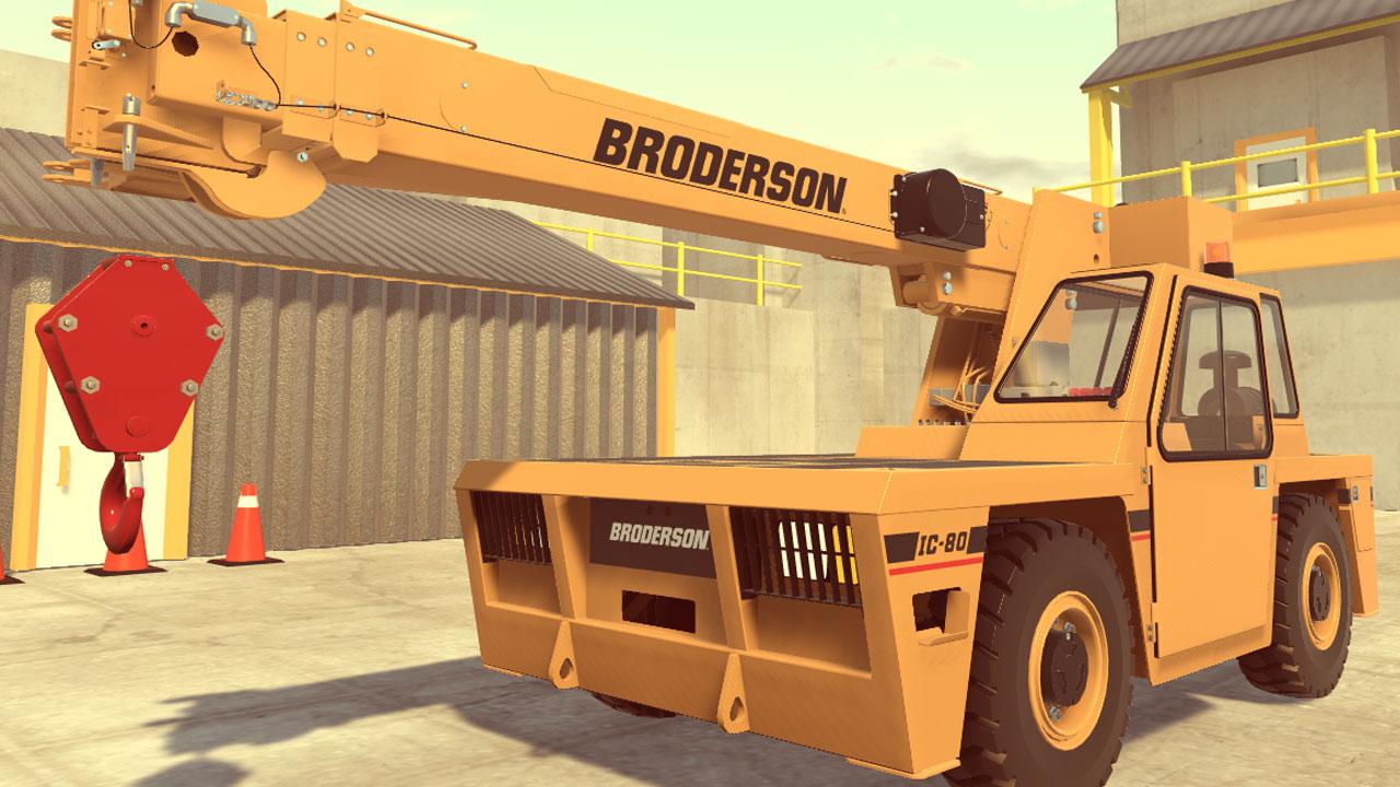 VR Simulation Crane Model Spotlight: Broderson IC-80