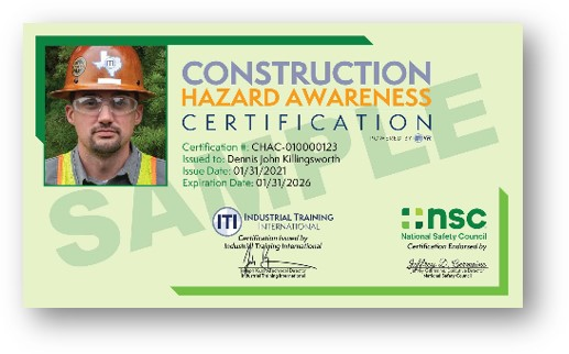 National Safety Council and ITI to Offer Construction Hazard Awareness Certification in Virtual Reality